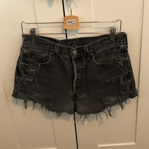 Levi's high waisted jeans, vintage black